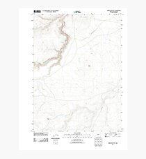 USGS Topo Map Oregon Oregon Butte 20110824 TM Photographic Print