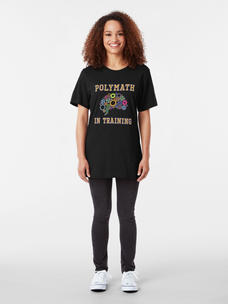 Alternate view of Polymath in Training. Slim Fit T-Shirt