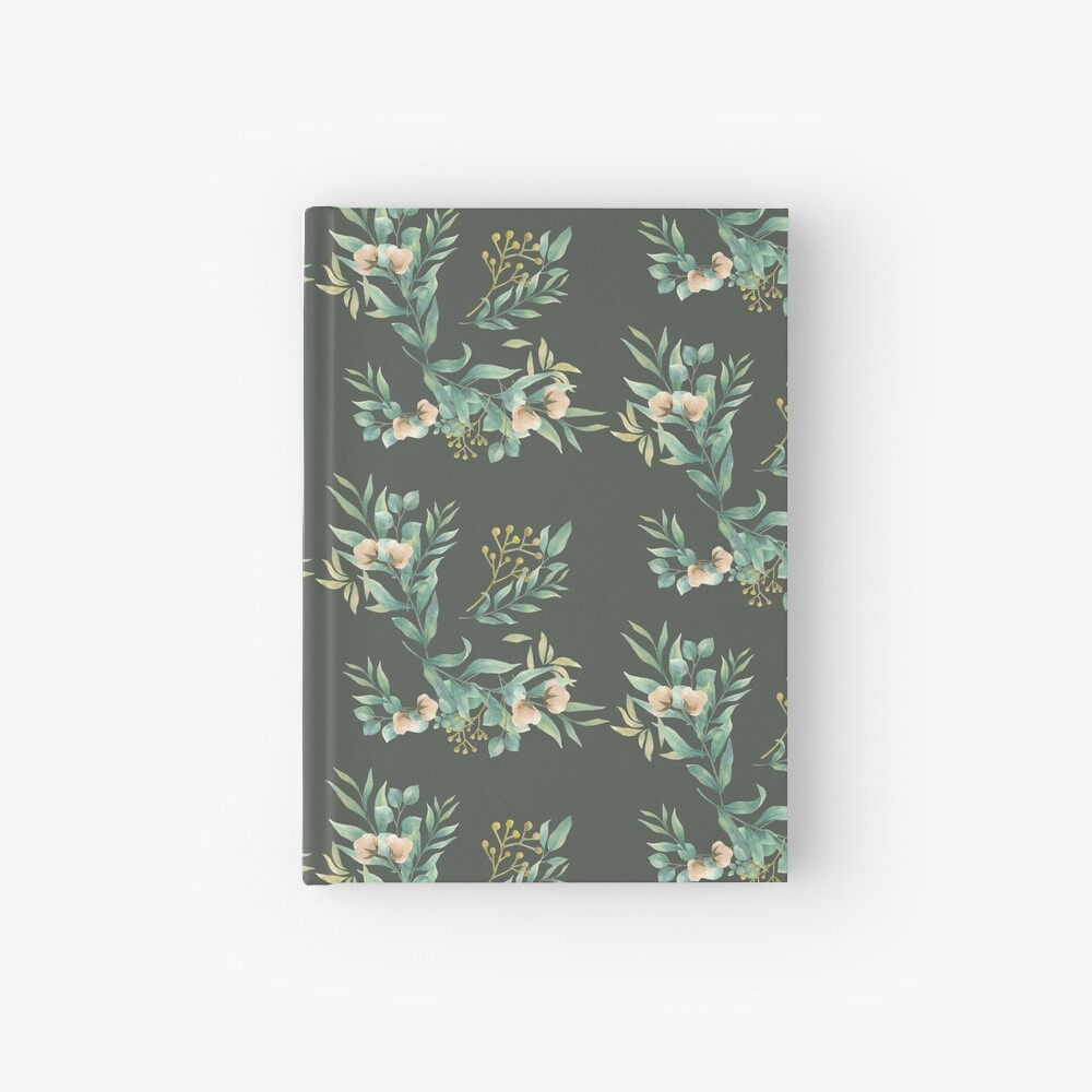 Pastel watercolor floral pattern Hardcover Journal