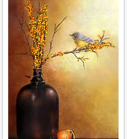 Autumn Warbler  Sticker