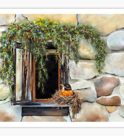 Robin in the Window Sticker