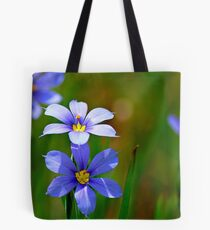 Blue-Eyed Grass Tote Bag