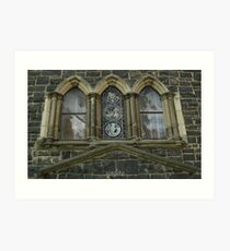 reflections in the church windows Art Print
