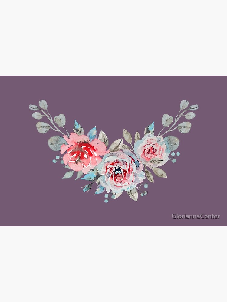 Three watercolor roses by GloriannaCenter