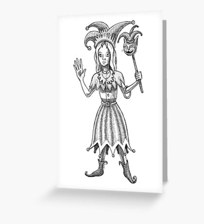 Alice the Joker Greeting Card