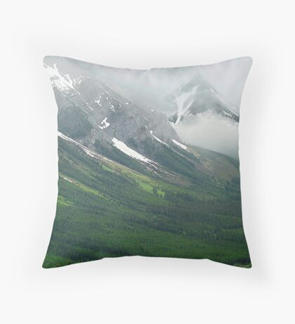 Misty Mountain Realm Throw Pillow