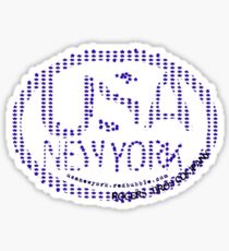 usa new york stars by rogers bros Sticker