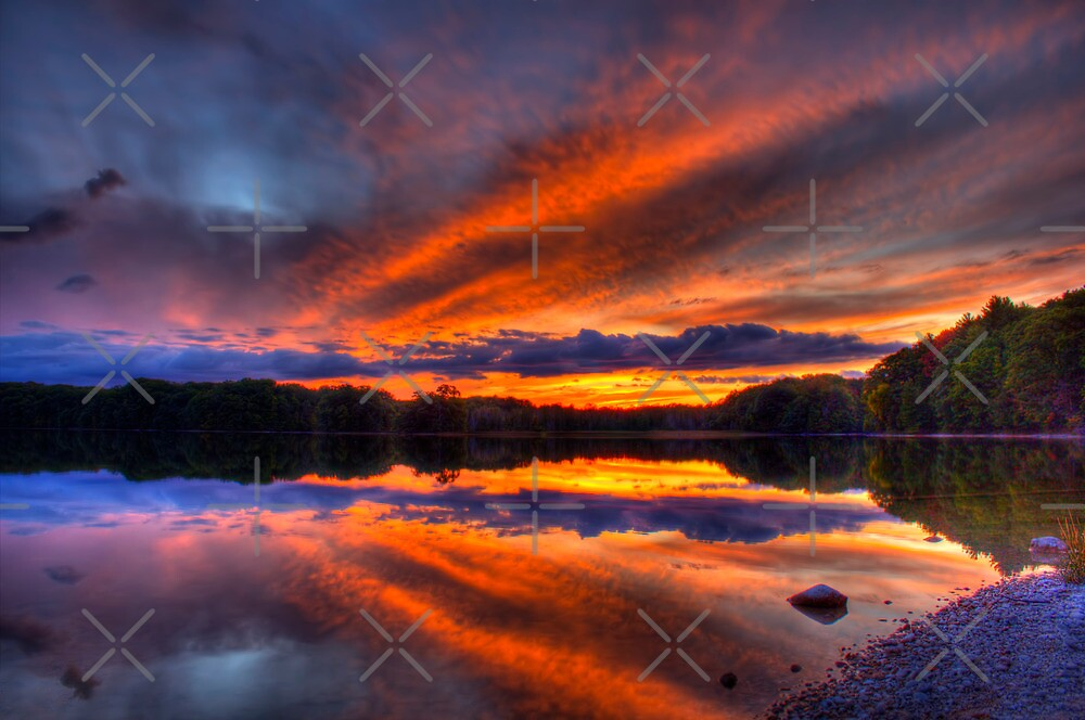 Lake of the Woods Sunset  by Megan Noble