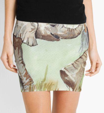 Baby Elephant walk Mini Skirt