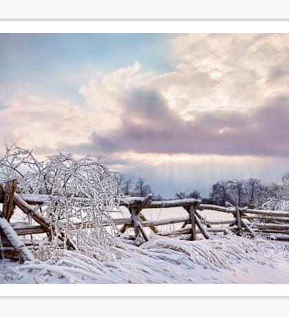 Road to Salem - Winter Landscape Sticker