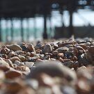 Pebbles on Brighton Beach by Geraldine Miller