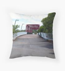 Recycled Highway Throw Pillow