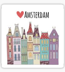 European houses in Amsterdam Sticker