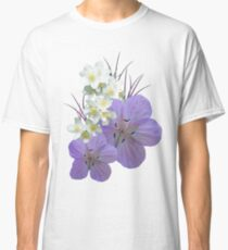 Pink and white flowers Classic T-Shirt