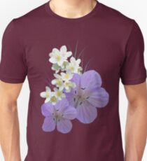 Pink and white flowers Unisex T-Shirt