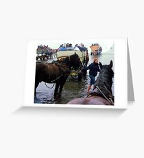 Cuxhafen...Carrige ride thru the ebb and flow Greeting Card