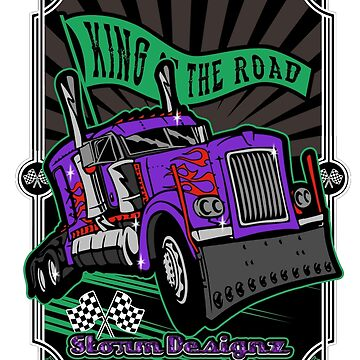 King of the Road Truck Drawing by shoppastorm