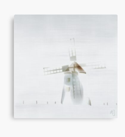 """fog"" at Butle, Fårö, Gotland, Canvas Print"