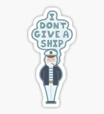 Indifferent Captain Sticker