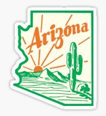 Arizona Cactus Vintage Travel Decal Sticker