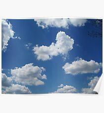Clouds in a Blue Sky - Serene Poster