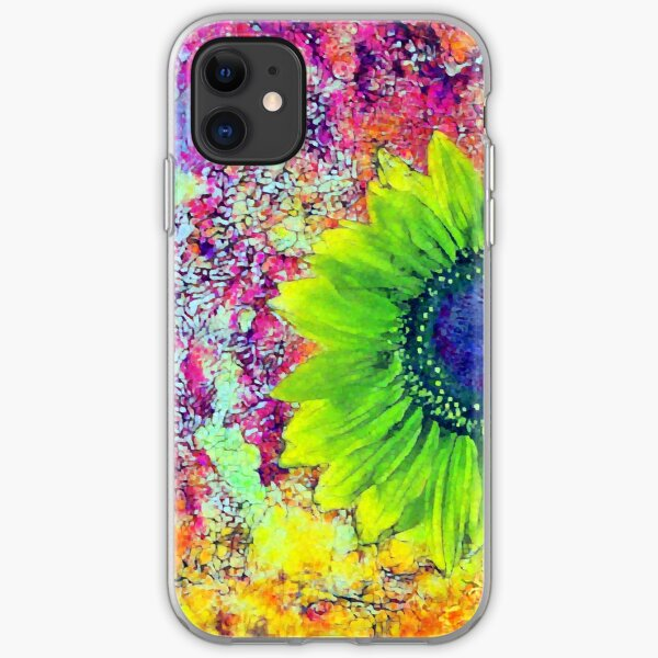 Abstract sunflower iPhone Soft Case