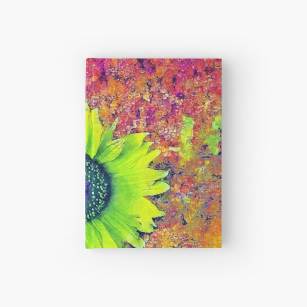 Abstract sunflower Hardcover Journal