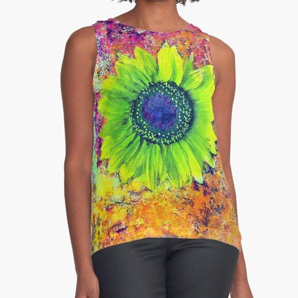 Abstract sunflower Sleeveless Top