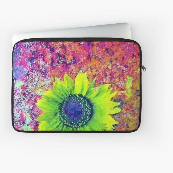 Abstract sunflower Laptop Sleeve