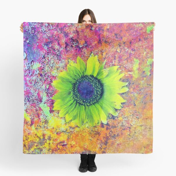 Abstract sunflower Scarf