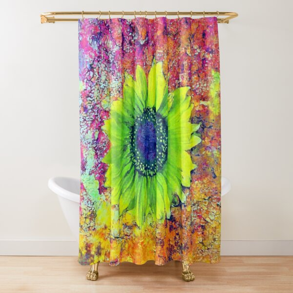 Abstract sunflower Shower Curtain