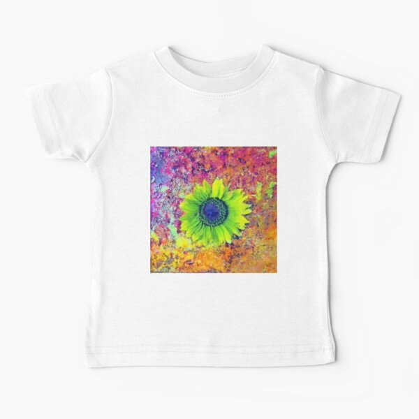 Abstract sunflower Baby T-Shirt
