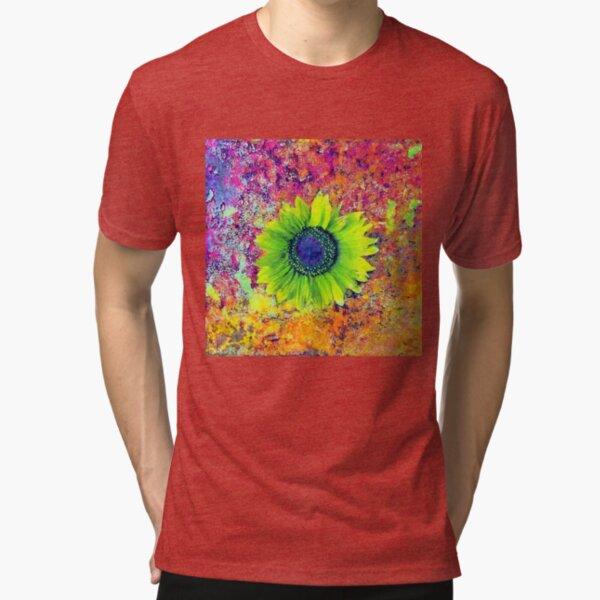 Abstract sunflower Tri-blend T-Shirt