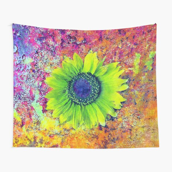 Abstract sunflower Tapestry