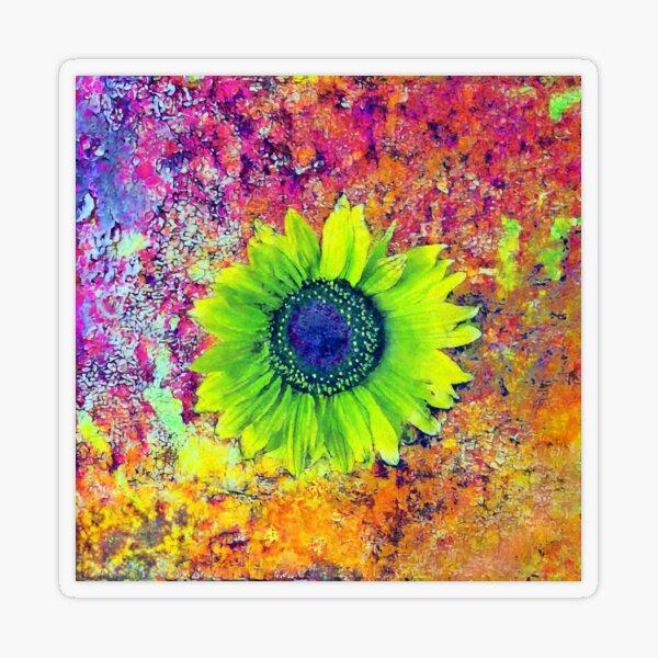 Abstract sunflower Transparent Sticker