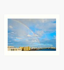 rainbow over San Juan Art Print