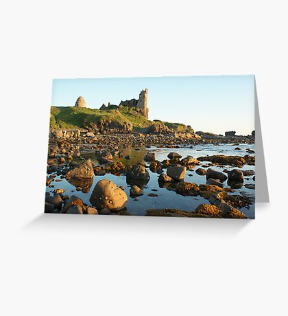 Dunure Castle, Ayrshire, Scotland Greeting Card
