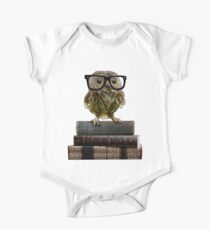 Adorable Nerdy Owl with Glasses Kids Clothes