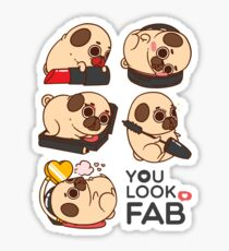 You Look Fab! -Puglie Sticker