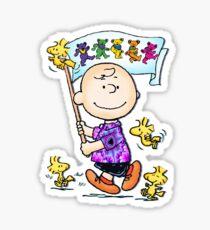 Wave that flag Charlie Brown Sticker