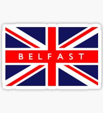 Belfast UK British Union Jack Flag Sticker