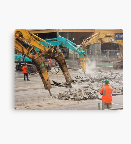 Construction Zone Metal Print