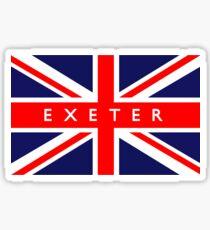 Exeter UK British Union Jack Flag Sticker