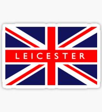 Leicester UK British Union Jack Flag Sticker
