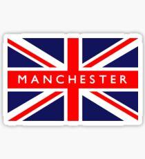 Manchester UK British Union Jack Flag Sticker