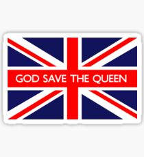 God Save The Queen UK British Union Jack Flag Sticker