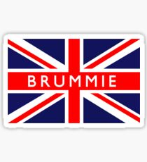 Brummie UK British Union Jack Flag Sticker