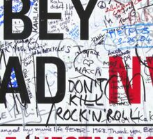Abbey Rd London Road Sign with Graffiti Die Cut Sticker Sticker
