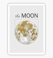 Golden Moon Sticker