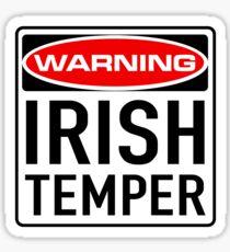 Irish Temper Warning Sign Sticker